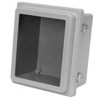 Raised Snap Latch Hinged Cover with Viewing Window