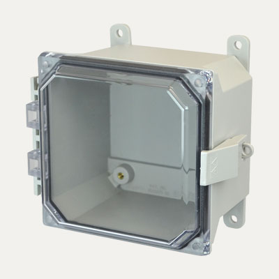 Allied Moulded AMU664CCNL NEMA 4X Fiberglass Enclosure