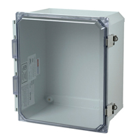 Allied Moulded AMU1648CCL NEMA 4X Fiberglass Enclosure