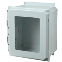 Allied Moulded AMU664HWF NEMA 4X Fiberglass Enclosure