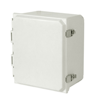 Allied Moulded AMU1206L NEMA 4X Fiberglass Enclosure