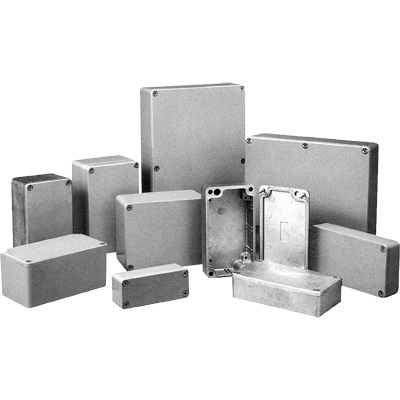 BUD Industries AN-1301 NEMA 4X Die-Cast Aluminum Enclosure