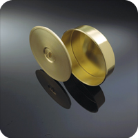 CB8W/R - 8 inch Brass Cover with Lifting Ring for Test Sieve