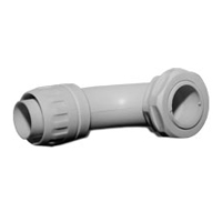 IBOCO CUR-20G Non-Metallic 90 Deg Liquid-Tight Connector 3/4in ID