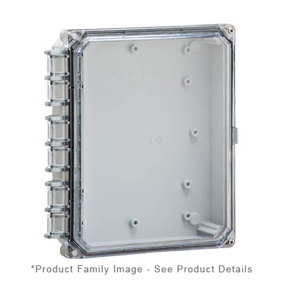Integra H10082HCF-6P NEMA 4X and 6P Polycarbonate Enclosure