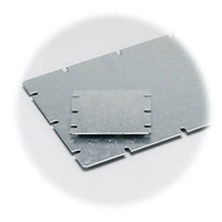 Fibox EKHVT Galvanized Steel Back Panel - 5.8 x 5.8