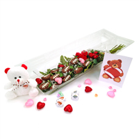 "Football Rose Valentine's Day ""Hail Mary"" Bouquet (12 Roses) THUMBNAIL"