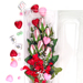 "Baseball Rose Valentine's Day ""Home Run"" Bouquet (6 Roses) SWATCH"