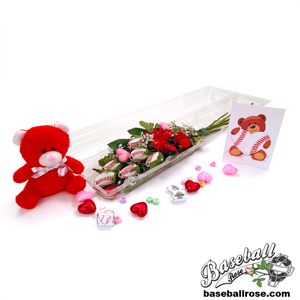 "Baseball Rose Valentine's Day ""Home Run"" Bouquet (6 Roses) MAIN"