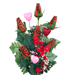 Basketball Rose Valentine's Day Vase Arrangement SWATCH
