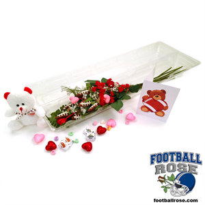 "Football Rose Valentine's Day ""Touchdown"" Bouquet (6 Roses) MAIN"