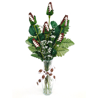 Football Rose Vase Arrangement - Great football gift for home or office