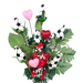 Soccer Rose Valentine's Day Vase Arrangement SWATCH