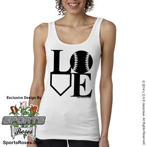 Softball LOVE Ladies Jersey Tank Shirt MAIN