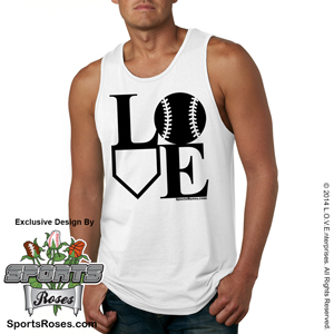 Softball LOVE Mens Tank Top Shirt MAIN