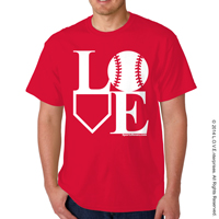 Baseball LOVE T-Shirt THUMBNAIL
