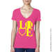 Softball LOVE V-Neck T-Shirt SWATCH