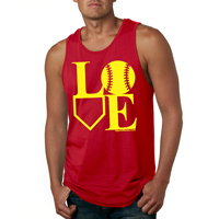 Baseball Softball LOVE Men's Tank Top Shirt THUMBNAIL