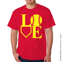 Softball LOVE T-Shirt THUMBNAIL