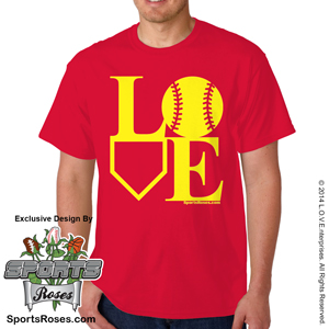 Softball LOVE T-Shirt MAIN