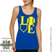 Softball LOVE Ladies Jersey Tank Shirt SWATCH