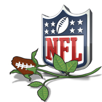NFL Themed Football Gifts Flower Rose Arrangements