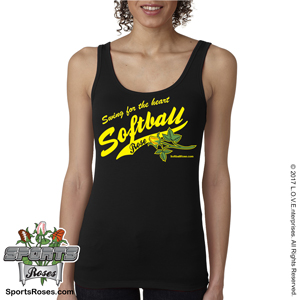Softball Rose Women's Tank Top Shirt MAIN