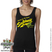 Softball Rose Women's Tank Top Shirt SWATCH