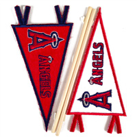 Los Angeles Anaheim Angels MLB Embroidered Mini Pennant Stickers THUMBNAIL