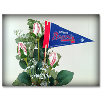 Baseball Gifts|Atlanta Braves Flower Arrangements and Gifts
