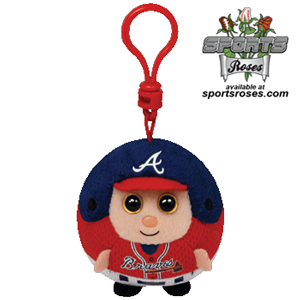 Atlanta Braves Beanie Ballz Clip MAIN