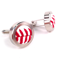 Baseball Themed Cufflinks THUMBNAIL