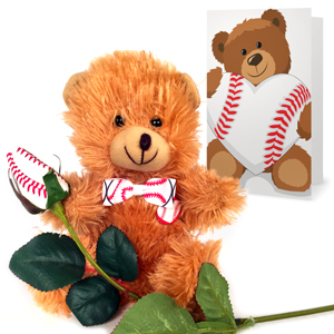 Baseball Rose & Sports Bear Gift Set MAIN