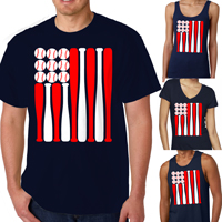 Baseball USA Flag Shirt THUMBNAIL