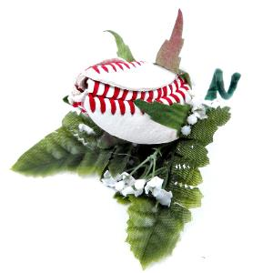 Baseball Rose Boutonniere MAIN