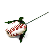Baseball Rose Corsage Stem - Customize your own boutonnieres and corsages THUMBNAIL