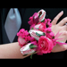 Baseball Rose Corsage Stem SWATCH
