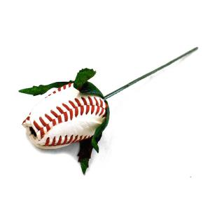 Baseball Rose Corsage Stem MAIN