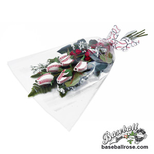 Baseball Rose Home Run Bouquet (6 Roses)_MAIN