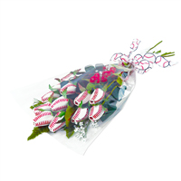 "Baseball Rose ""Home Run"" Bouquet - 6 Baseball Roses THUMBNAIL"