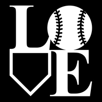 Baseball LOVE Decal THUMBNAIL