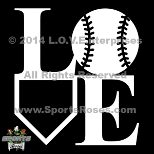 Baseball Love Decal