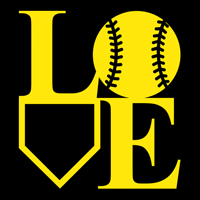 Softball LOVE Decal THUMBNAIL