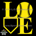 Baseball LOVE Decal_SWATCH