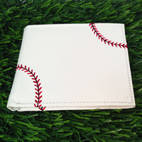 Baseball Themed Men's Wallet THUMBNAIL