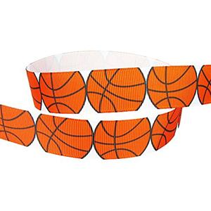Basketball ribbon 7/8 inch grosgrain MAIN