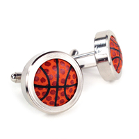 Basketball Themed Cufflinks THUMBNAIL