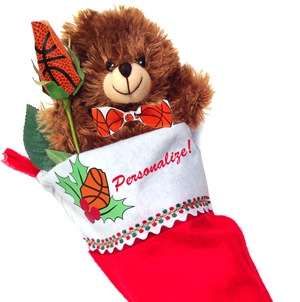 Basketball Rose Christmas Stocking Stuffer Gift Set MAIN