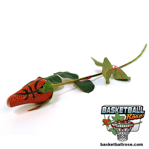 Basketball Rose Long Stem Basketball Themed Gifts And