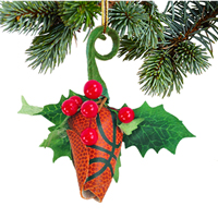 Basketball Rose Mistletoe Ornament THUMBNAIL
